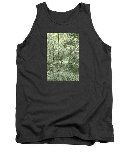 Light Forest Scene Tank Top