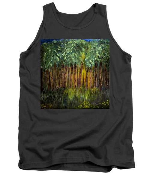 Light In The Forest Tank Top by Dick Bourgault