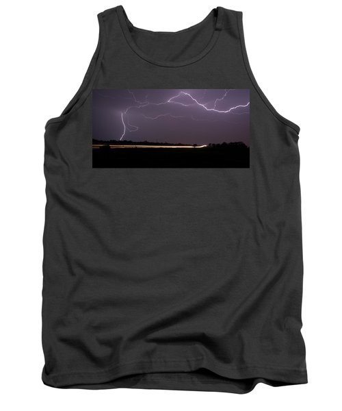 Tank Top featuring the photograph Lightening Bolts by Charles Beeler