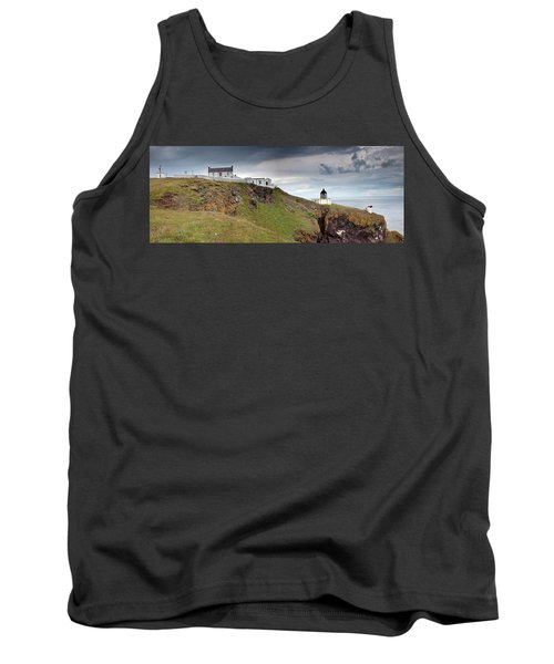 Lighthouse And Foghorn Along The Coast Tank Top