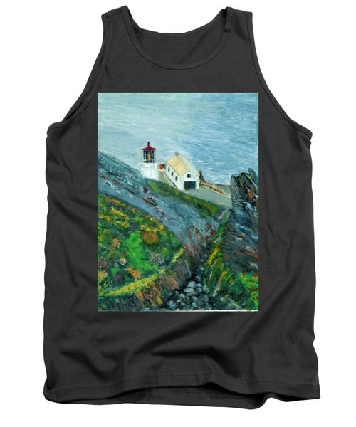Lighthouse At Point Reyes California Tank Top