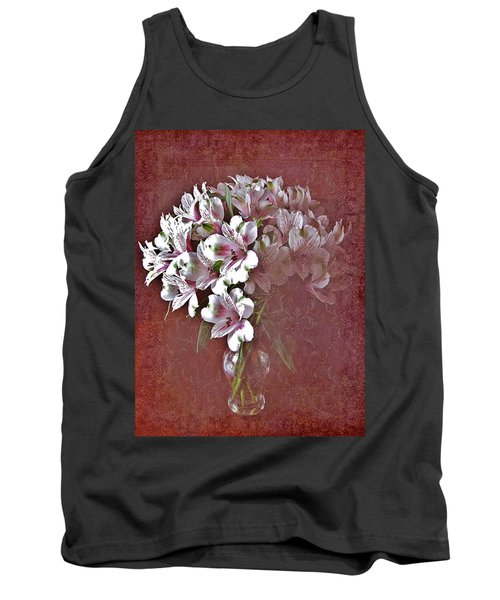 Tank Top featuring the photograph Lilies In Vase by Diane Alexander