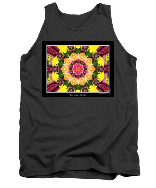 Tank Top featuring the photograph Lily And Chrysanthemums Flower Kaleidoscope by Rose Santuci-Sofranko
