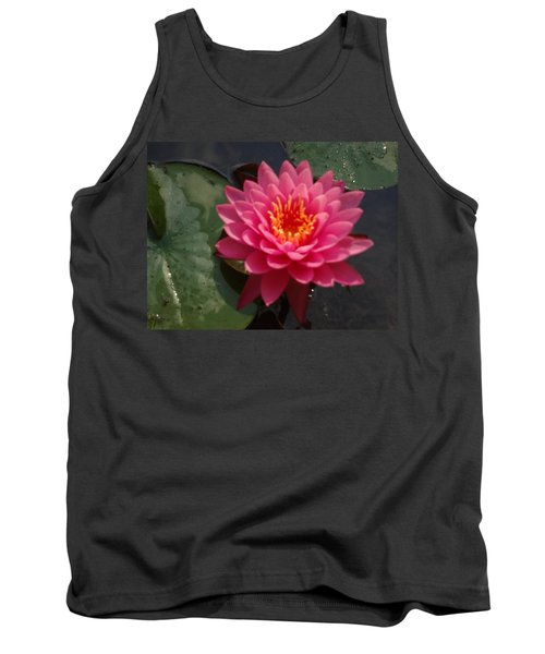 Tank Top featuring the photograph Lily Flower In Bloom by Michael Porchik