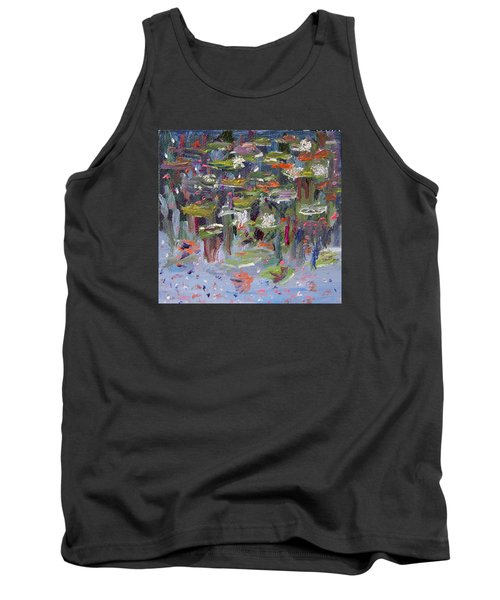 Tank Top featuring the painting Lily Pad Life by Michael Helfen