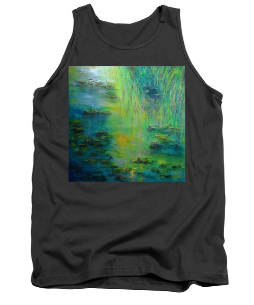 Lily Pond Tribute To Monet Tank Top