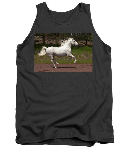 Tank Top featuring the photograph Lipizzan At Liberty D5809 by Wes and Dotty Weber