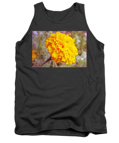 Tank Top featuring the photograph Little Golden  Marigold by Kay Novy