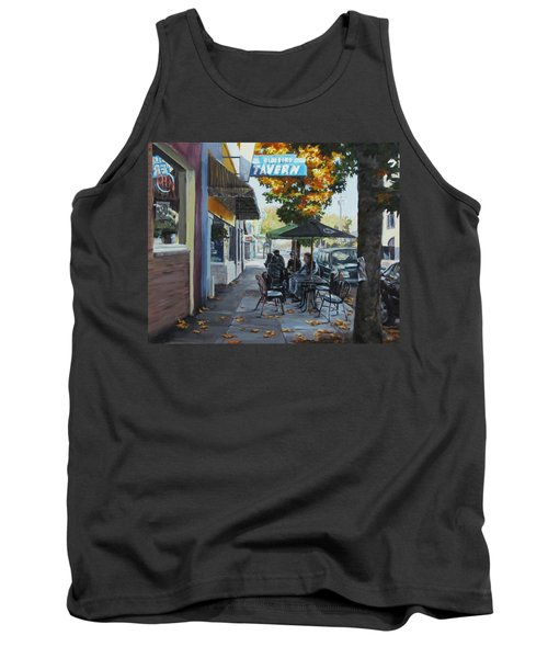 Tank Top featuring the painting Local Color by Karen Ilari
