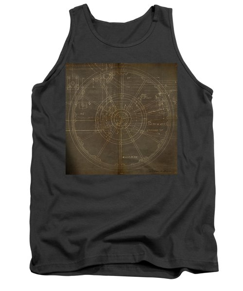 Tank Top featuring the painting Locomotive Wheel by James Christopher Hill