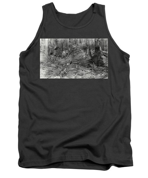 Logging A Redwood Hillside C. 1880 Tank Top