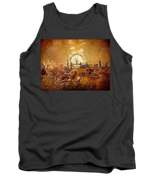 London Skyline Old Vintage  Tank Top