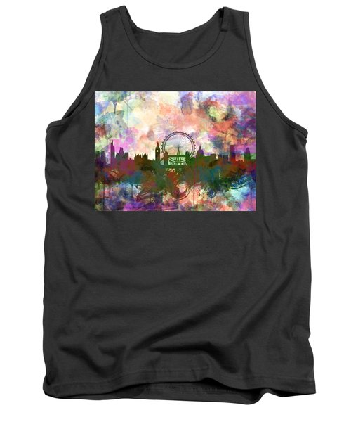 London Skyline Watercolor Tank Top