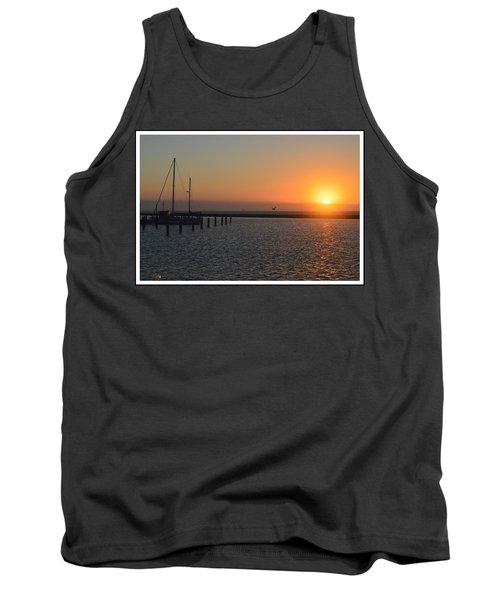 Lone Bird At The Marina Tank Top