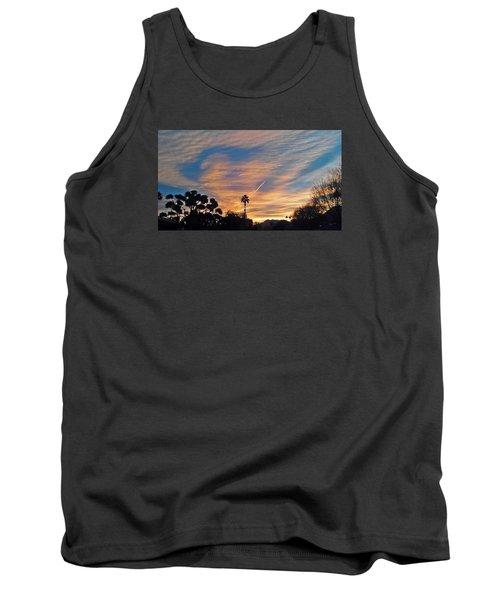 Lone Sentry Morning Sky Tank Top by Jay Milo