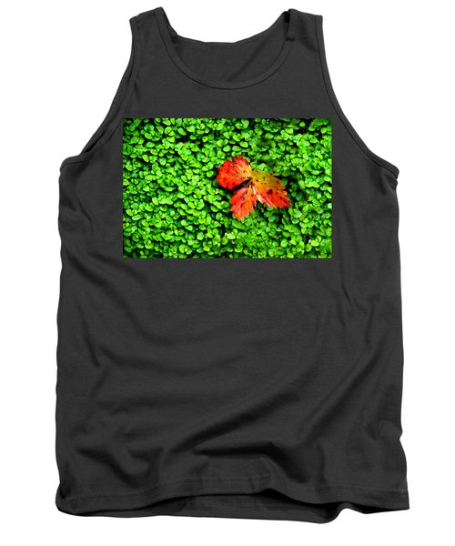Tank Top featuring the photograph Lonely Leaf by Charlie and Norma Brock