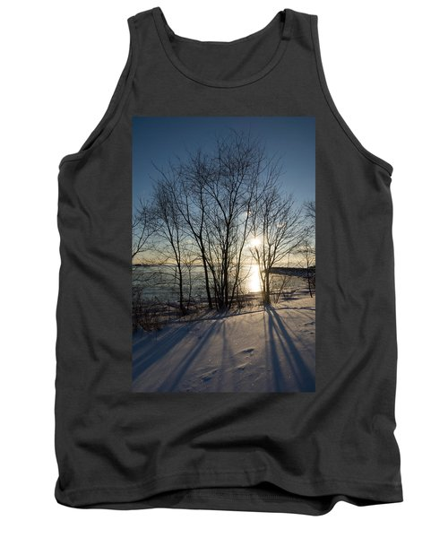 Long Shadows In The Snow Tank Top