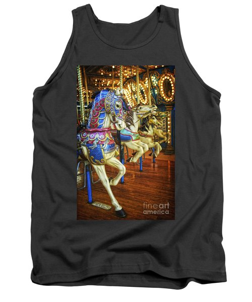 Tank Top featuring the photograph Dancing Horses by Debra Fedchin
