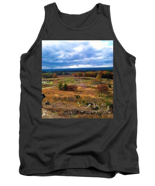 Looking Over The Gettysburg Battlefield Tank Top