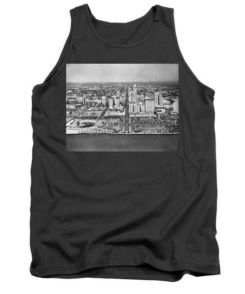 Looking Up Flagler Street At Downtown Miami Tank Top