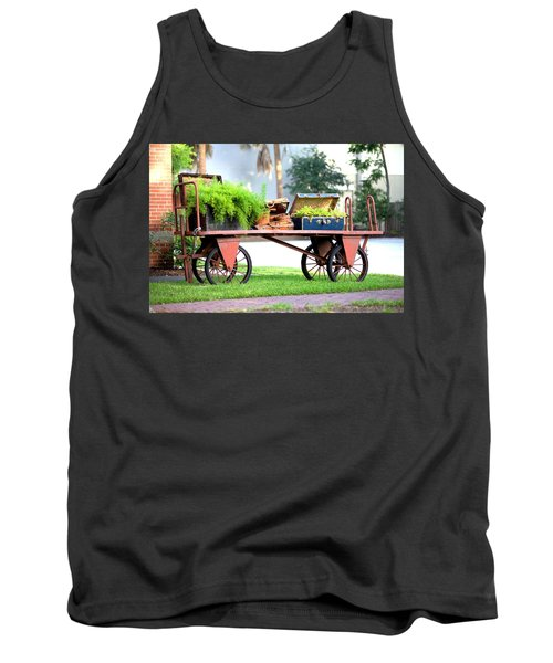 Tank Top featuring the photograph Lost Luggage by Gordon Elwell