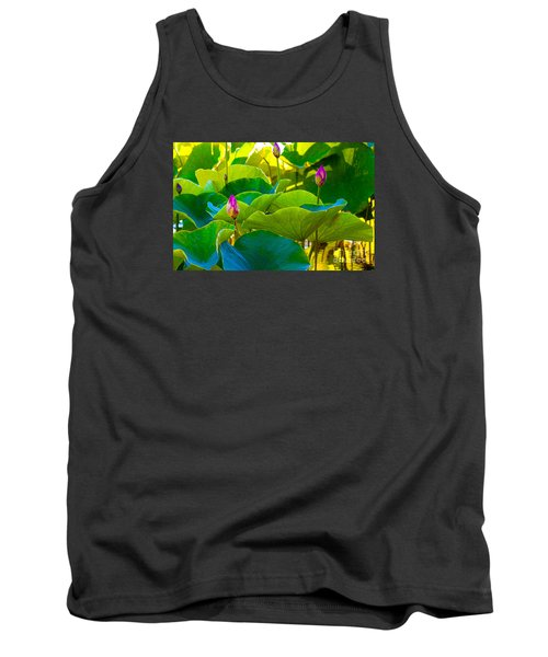 Lotus Garden Tank Top by Roselynne Broussard