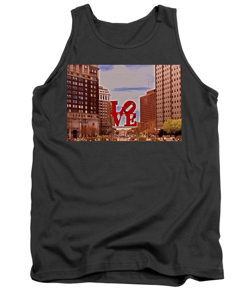 Love Sculpture - Philadelphia - 2 Tank Top by Lou Ford