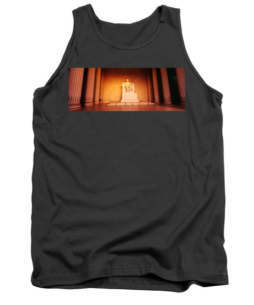 Low Angle View Of A Statue Of Abraham Tank Top by Panoramic Images