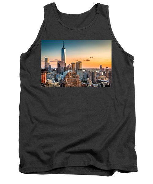 Lower Manhattan At Sunset Tank Top