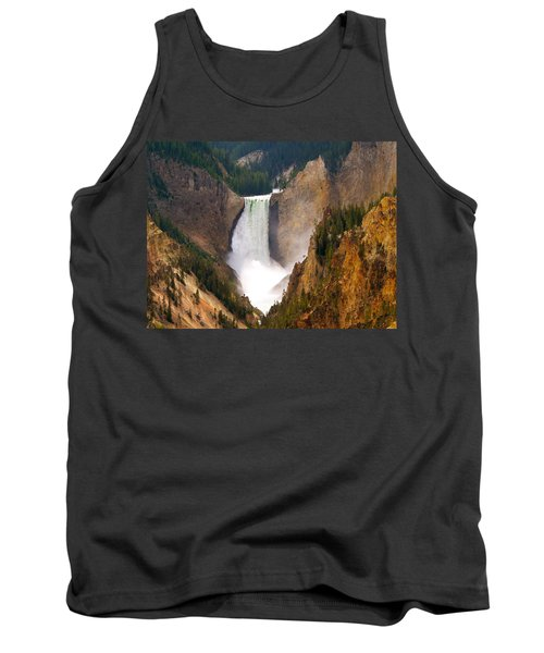 Tank Top featuring the photograph Lower Yellowstone Falls by Eric Tressler