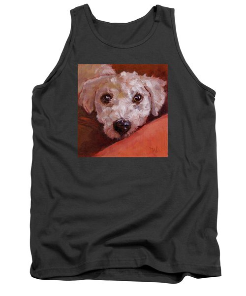 Tank Top featuring the painting Lucky by Pattie Wall