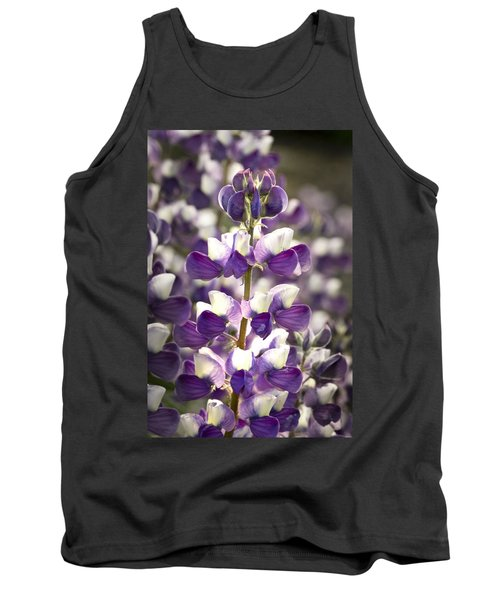 Tank Top featuring the photograph Lupine Wildflowers by Sonya Lang
