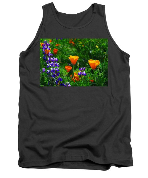Lupines And Poppies Tank Top by Lynn Bauer