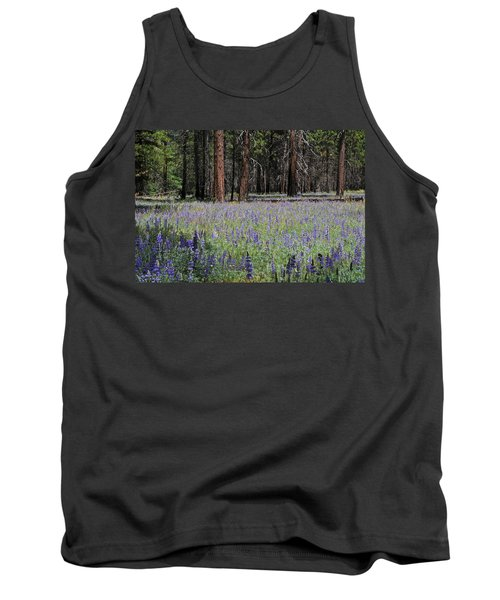 Lupines In Yosemite Valley Tank Top by Lynn Bauer