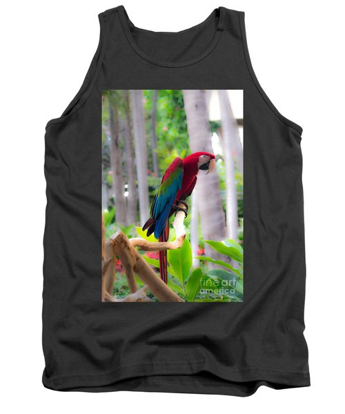 Tank Top featuring the photograph Macaw by Angela DeFrias