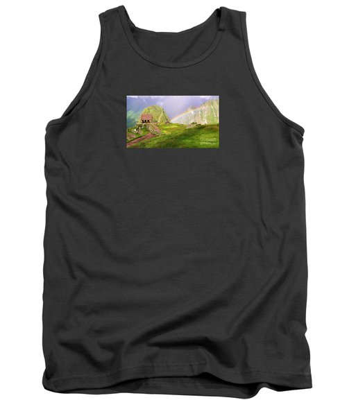 Machu Picchu Rainbow Tank Top by Michele Penner