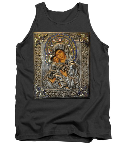 Madonna And Child Tank Top by Jay Milo