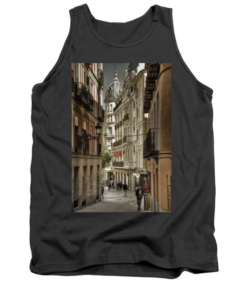 Tank Top featuring the photograph Madrid Streets by Joan Carroll