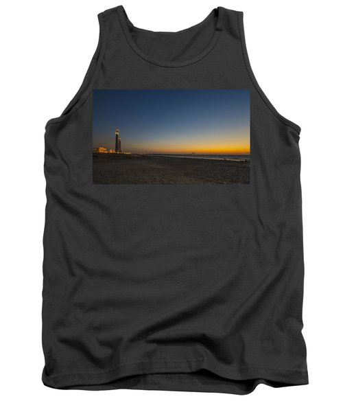 Tank Top featuring the photograph magical sunset moments at Caesarea  by Ron Shoshani