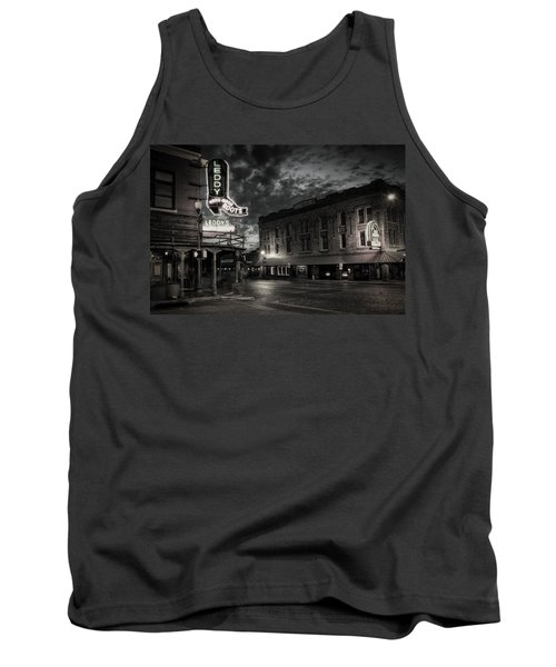 Tank Top featuring the photograph Main And Exchange Bw by Joan Carroll