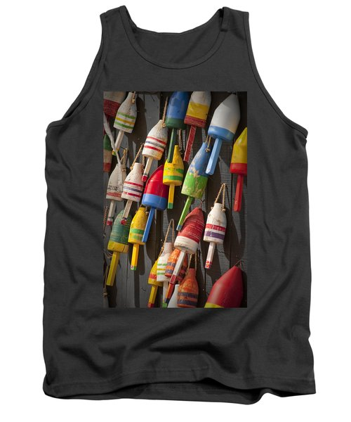 Maine Fishing Buoys Tank Top by Randall Nyhof