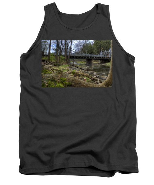 Majestic Bridge In The Woods Tank Top