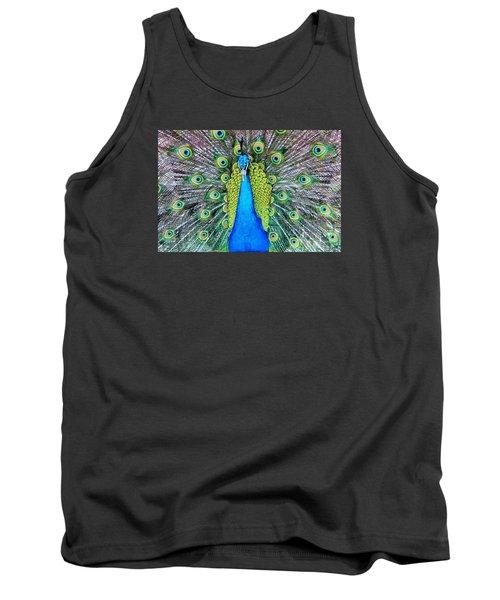 Male Peacock Tank Top