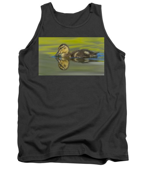 Mallard Duck Swimming In Marsh Pond Tank Top
