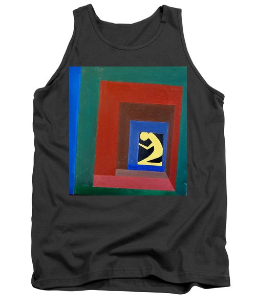 Man In A Box Tank Top by Lenore Senior