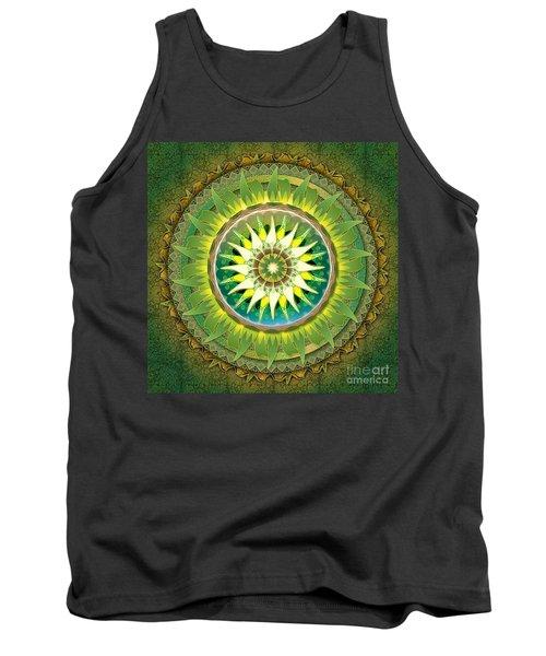 Mandala Green Tank Top