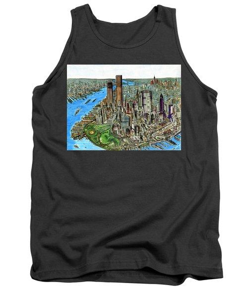 New York Downtown Manhattan 1972 Tank Top