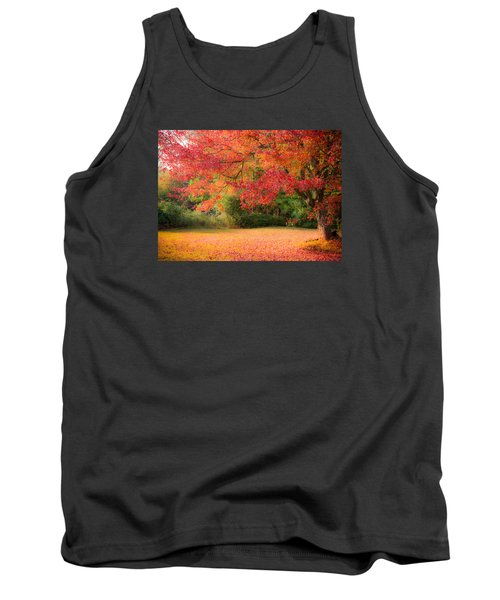 Maple In Red And Orange Tank Top