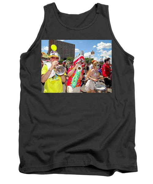 Tank Top featuring the photograph Marching Band by Ed Weidman