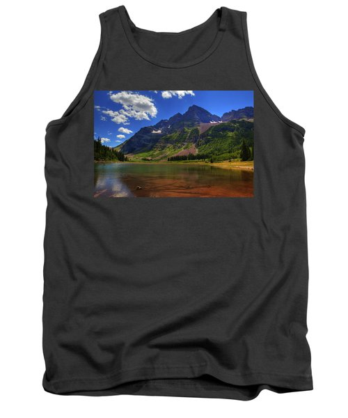 Tank Top featuring the photograph Maroon Bells by Alan Vance Ley